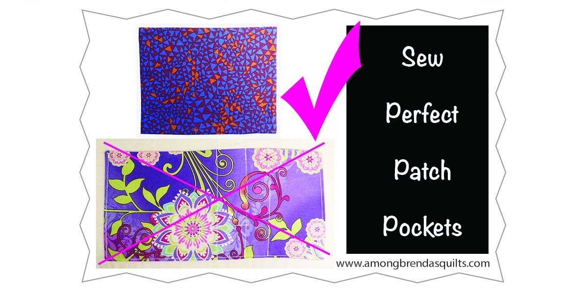 Sew Perfect Patch Pocket Corners
