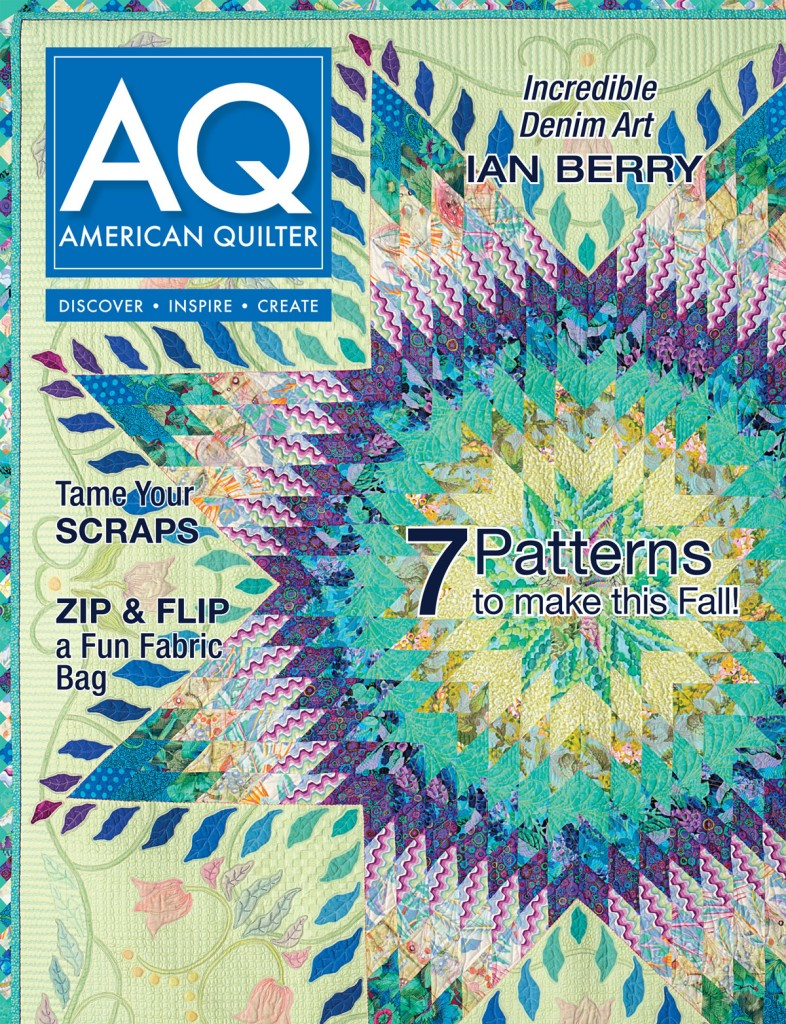 September Cover of American Quilter Magazine